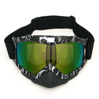 Wholesale New coming colorful lens Stripe Adult Motorcycle Motocross Cross Country MX DIRT ROAD Flexible Goggle