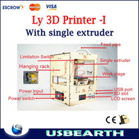 brand new   Hot 2013!!! Free shipping Ly 3D Printer Updating Type SD Card pringt Single extruder open source ABS extrusion machine