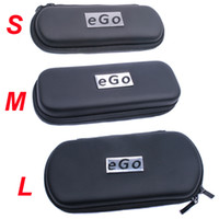 Wholesale eGo Case EGO Travel Case eGo Leather Zipper Case L M S Size Portable eGo Box eGo Bag for Electronic Cigarette e Cigarette Kits TOWOTO