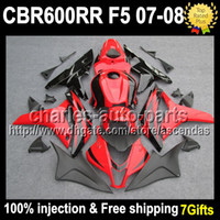 7gifts+ Tank+ Cowl 100% Injection Red black For HONDA CBR600RR...