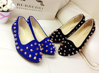 Wholesale Womens Silver Metal Rivets Studded Pumps Casual Ballerina Ballet Flats Shoes New CL0187