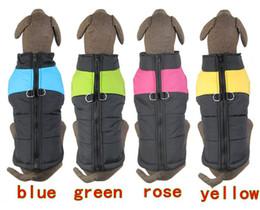 Wholesale 2016 NEW Hot Sale Pet Winter Vest Large Dog Cotton Clothing Golden Retriever Dog clothes color XS S M L XL