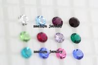 Wholesale bling sparkle mm round months birthstones for glass floating locket pendant no locket