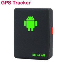 Wholesale Mini Global Realtime GPS Tracker mini A8 GSM GPRS GPS Tracking Device Track through both PC Smartphone APP For children pet car