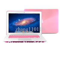 Wholesale For Macbook Air quot quot Inch Laptop Notebook See Through Crystal Hard Case Cover with TPU Keyboard Cover PINK