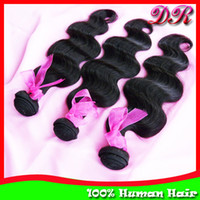 Wholesale 3pcs Mix inches Malaysian Virgin Human Weave Hair Weft Extensions Body Wave Natural Color Unprocessed Bundles Wavy Hair
