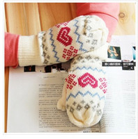 Wholesale New Man Woman Gloves Autumn Winter Double Layers Warm Knitted Gloves Mix Colors