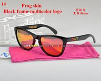 Wholesale 2016 NEW BRAND IN ORIGINAL BOX Frogskin VR SUNGLASSES eyewear goggles MATTE BLACK W GRAY IRIDIUM POLARIZED LENS FOR MEN MEN S