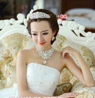 tiara - New Brand Wedding Super Sparkling Tiara w Swarovski Crystal Tiara Necklace Earring Excellent wedding dress store romanticweddinggown