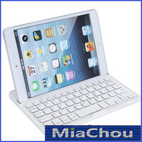 Wholesale 7 Inch thin Wireless Bluetooth Keyboard Aluminum Case Stand for Apple iPad Mini