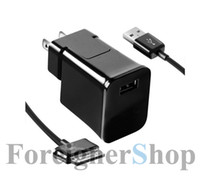 Wholesale For Samsung Galaxy Tab Note Home Wall Travel USB Charger Adapter ETA P10JBEG US Plug A Data Cable