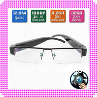 Wholesale 2013 Newest MP Full HD P espion Glasses Hidden Spy Camera Eyewear Cam DVR Video Recorder needed by News Reporter