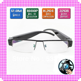 Wholesale Newest Upgraded Version MP Full HD P Espion Glasses Hidden Spy Camera Eyewear Cam DVR Video Recorder needed by News Reporter Observers