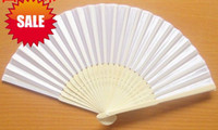 Wholesale 2013 new pc inch cm Lady s white paper fan beach wedding cooling favor for wedding bridal festival party Decoration