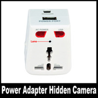 Wholesale Spy Home Socket Plug Camera BD Video Recorder Motion Detecting Camera Plugs Universal Adapter Charger Newest