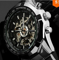 Stainless Steel steampunk watches - NEW Steampunk Clock Mens Automatic Mechanical Men Wrist Watch for