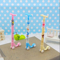 Wholesale Stationery Kick Scooter Rollerball Pens Ball point Pen Lovely Pencil Children s Toys Gifts Student Prizes