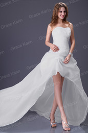 Wholesale 2013 Grace Karin Stunning Strapless Princess Front Short and Long Back Wedding Dress Gown CL3121