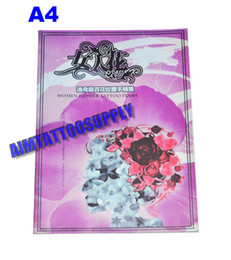 Wholesale Hot gril with tattoo book Woman flower A4 High quality for art tattoo