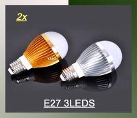Candle ball lead screws - W LED Bulb Bubble Ball High Power E27 E14 GU10 B22 screw W led Light V V AC85 V Cool pure Warm White