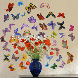 Colorful butterfly wall sticker butterfly kitchen glass cabinet decal removable vinyl wall paper