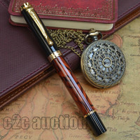 Wholesale JINHAO WINE MARBLE AND GOLDEN MEDIUM NIB FOUNTAIN PEN