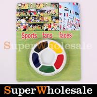15.5*12.5cm airbrush faces - 5pcs Colored Face amp Body Paint Round Shape For Soccer Fans Halloween Face Paint