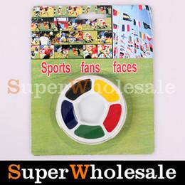 Wholesale 5pcs Colored Face amp Body Paint Round Shape For Soccer Fans Halloween Face Paint