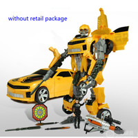 5-7 Years Car Plastic transformer robot autobots Bumblebee and Toy Car without retail package