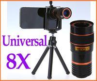 Wholesale universal general mobile phone telescope optical zoom telescope lens binoculars with mini tripod holder for iphone s mobile phone