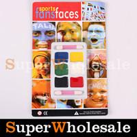 Wholesale 6Color Face Body Paint Painting Make Up Sport Fans Faces Halloween Face Paint