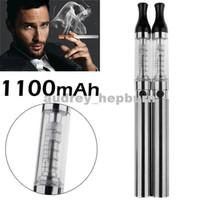 Venta al por mayor - dejar de fumar 2 x 1100mAh recargable Ego Cigarrillos electrónicos E-Cigarrillo EGO-CE8 Atomizador mantenimiento de la salud Set