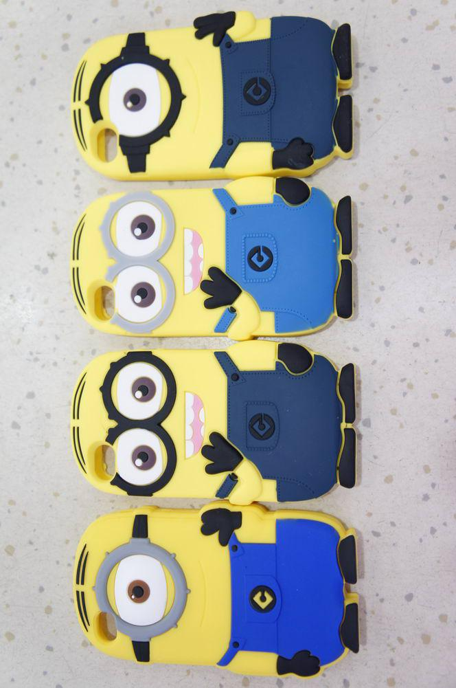 Buy Hot!! 2013 Cute 3D Despicable 2 Silicon Case 4s 4 Minions iphone retail