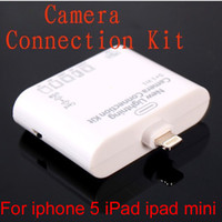 Wholesale 5 In Pin Camera Connection Kit Card Reader for iPad iPad Mini