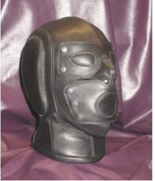 Wholesale 1 Soft leather bondage Mask Headgear sex toys BG030