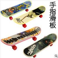 Plastic finger skate board - X New mm Stylish Mini Fingerboard Finger Skate Board multicolor xq25
