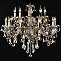 Wholesale Fast Shipping Modern Crystal Lights Fixtures Living Room Pendant Lamps High Quality Chandeliers Cognac Color Attentive After sales Lights