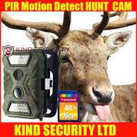 Wholesale 20m IR Hunting camera Mini Digital Trail Gamera P video hunting camera with SD card DVR recorder with LED Freeship