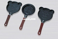 Wholesale 5pcs Frying Pan Mini lovely Shaped Egg Fry pan Non Stick smile face shape pan super price