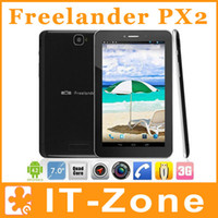 Wholesale Freelander PX2C PX2 GPS G tablet pc inch MTK8382 Quad Core Android Dual Sim Phone Call Bluetooth HDMI