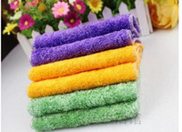 Wholesale 5 Bamboo Fiber Washing Cloth Magic Multi Function Efficient ANTI GREASY Wiping Cleaning Rags Cleaning Cloth Dish Towel CM