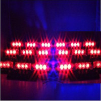 Wholesale DC12V LEDs Car Vehicle Strobe Warning Emergency Lights for Front Grille Deck Red Blue Yellow Amber White