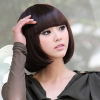 Wholesale Fashion wigs BoBo short hair wig Color Stylish Fashionable BOB style glueless full lace wigs WY42 P