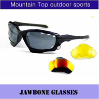 Wholesale OK Jawbone Racing Jacket Cycling Outdoor Sports Sunglasses Eyewear Goggle Sunglasses color lens color frame