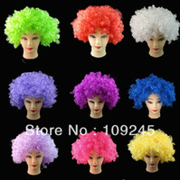 Wholesale Price Child Adult Costume Football Fan Wig Headwear hairwear Christmas Halloween Gifts Party Performance Decorative