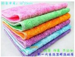Wholesale 20 Double Layer Bamboo Fibre Not Sticky Oil Towel Wash Towel Kitchen Microfiber Cleaning Cloths Cleaning Rags Dish Towel CM