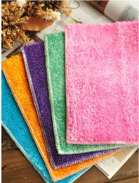 Wholesale 60 Magic Washing Dish Cleaning Cloth Kitchen Non stick Oil Bamboo Fibre Towel Dish Washing Cloth Cooking Cloth Cleaning Rags cm