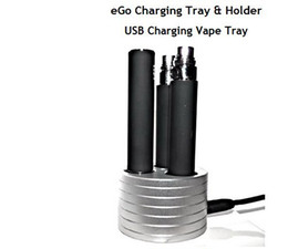 Wholesale Electronic cigarette Charging vape tray USB Vape Tray Aluminium Triple Holder with charging Slot compatible with ego t evod ego q battery