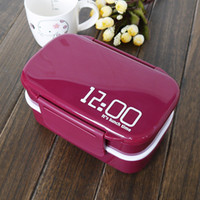 Wholesale fashion and practical Bowl High quality double layer plastic lunch box separate compartments bowl can microwave