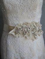 Wholesale 2015 Fashion Crystal Beads Clear Beads Wedding Dress Rhinestone Bridal Jewelry Bridal Sash Ready To Ship